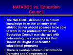 nataboc vs education council