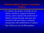 national athletic trainers association nata