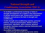 national strength and conditioning association nsca