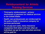 reimbursement for athletic training services1