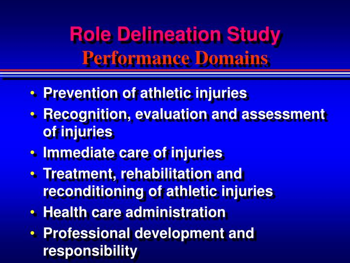 Role Delineation Study