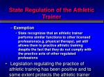 state regulation of the athletic trainer4