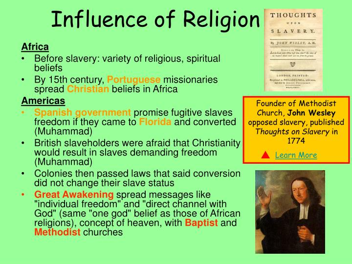 the importance and influence of religion How does religion influence marriage christian, jewish, mormon emergent themes that link religion and marriage: (1) the influence of importance of prayer.