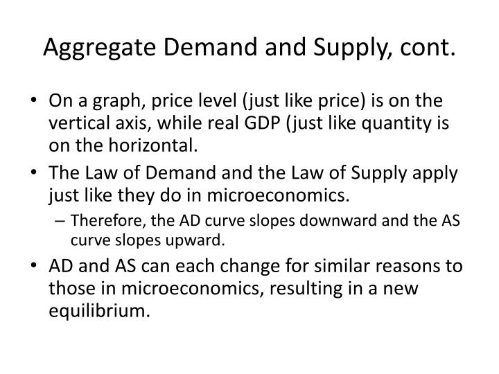 Aggregate demand and supply cont