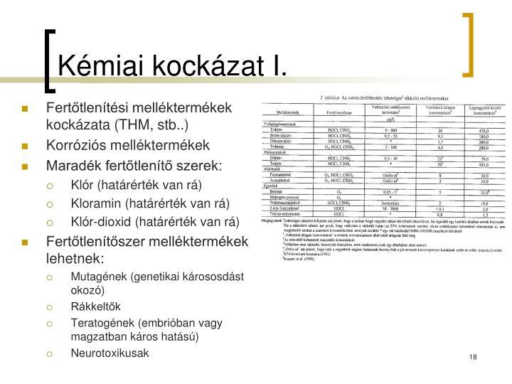 Kémiai kockázat I.