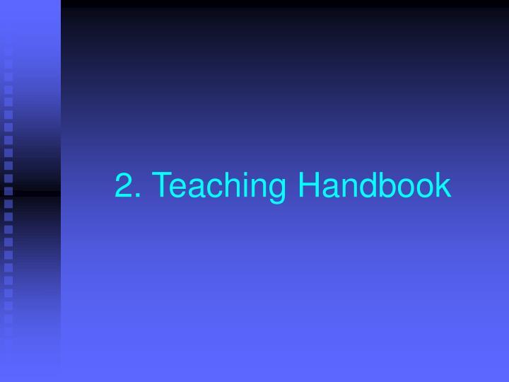 2. Teaching Handbook