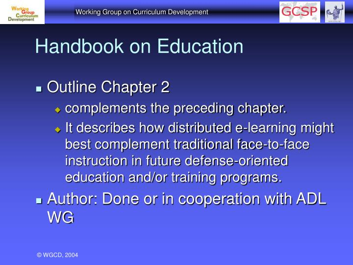 Handbook on Education