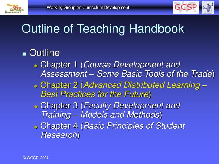 Outline of Teaching Handbook