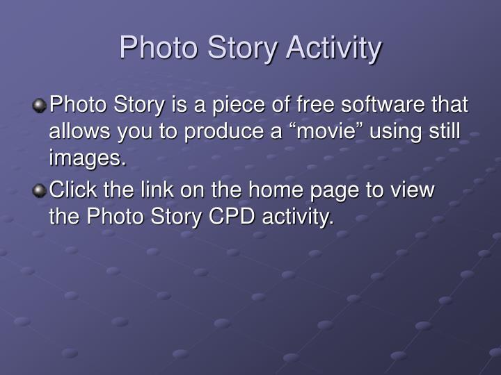 Photo Story Activity