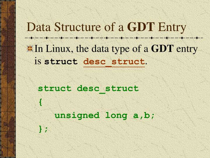 Data Structure of a