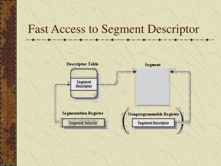 Fast Access to Segment Descriptor