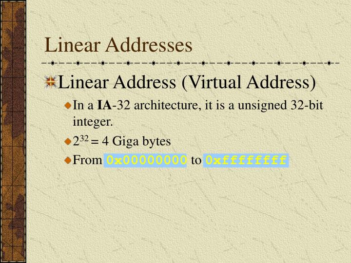 Linear Addresses