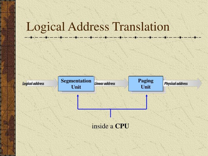 Logical Address Translation