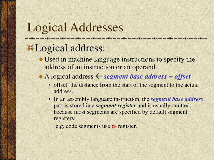 Logical Addresses
