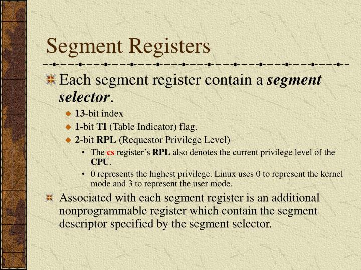 Segment Registers