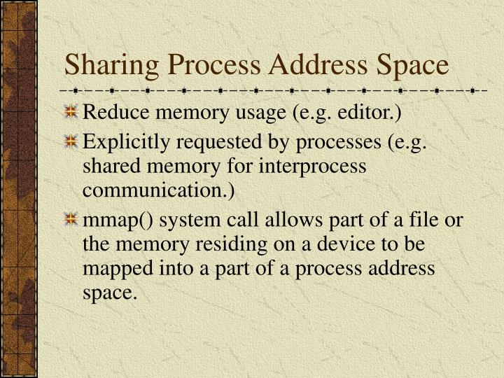 Sharing process address space