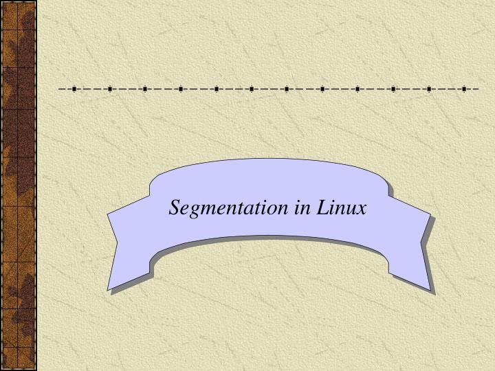 Segmentation in Linux