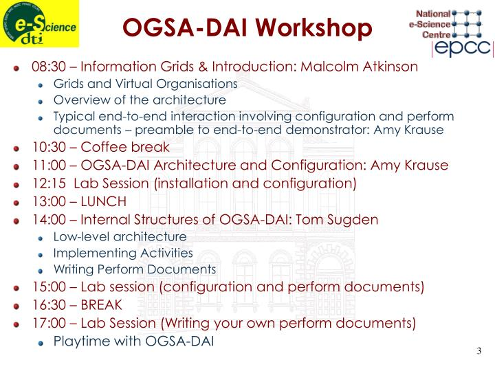 OGSA-DAI Workshop