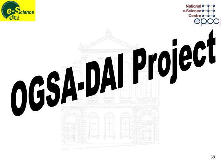 OGSA-DAI Project
