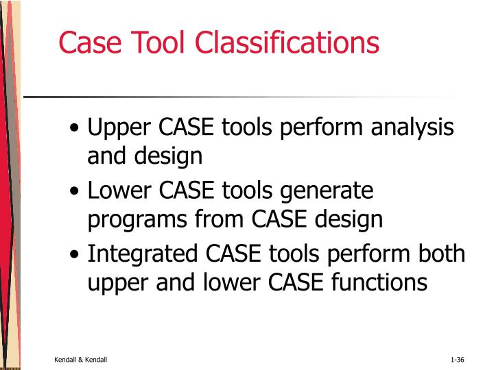 Case Tool Classifications