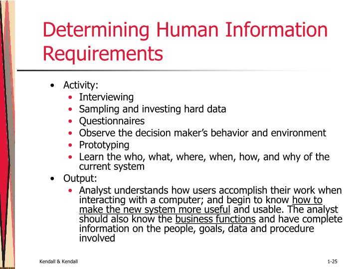 Determining Human Information Requirements