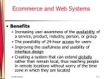 ecommerce and web systems