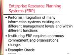enterprise resource planning systems erp