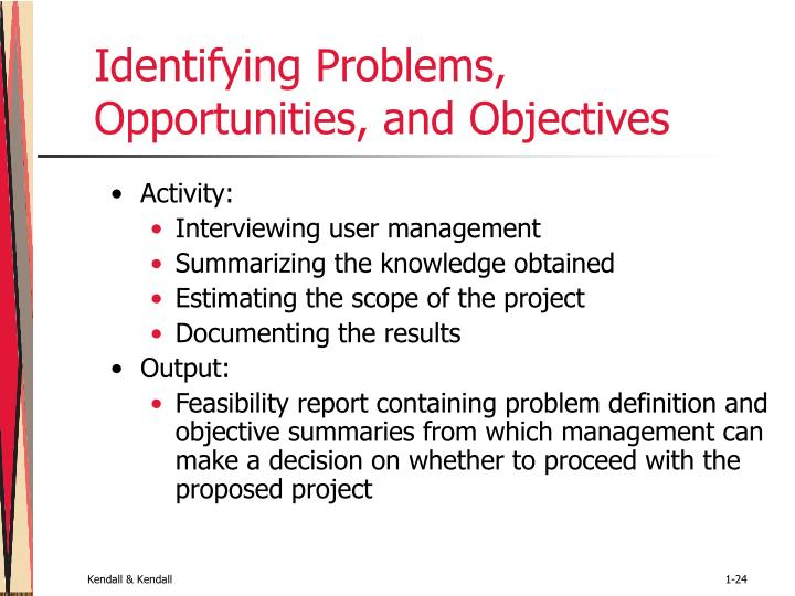 Identifying Problems, Opportunities, and Objectives