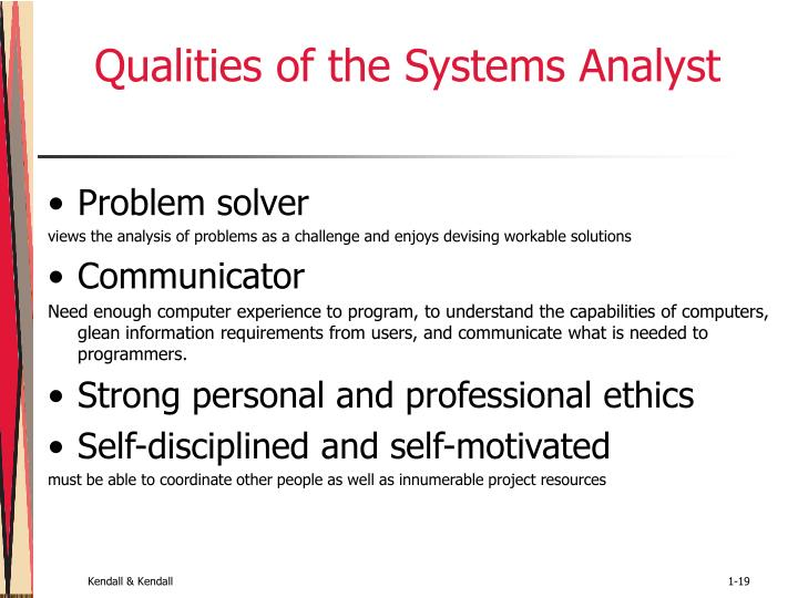 Qualities of the Systems Analyst