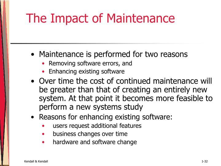 The Impact of Maintenance