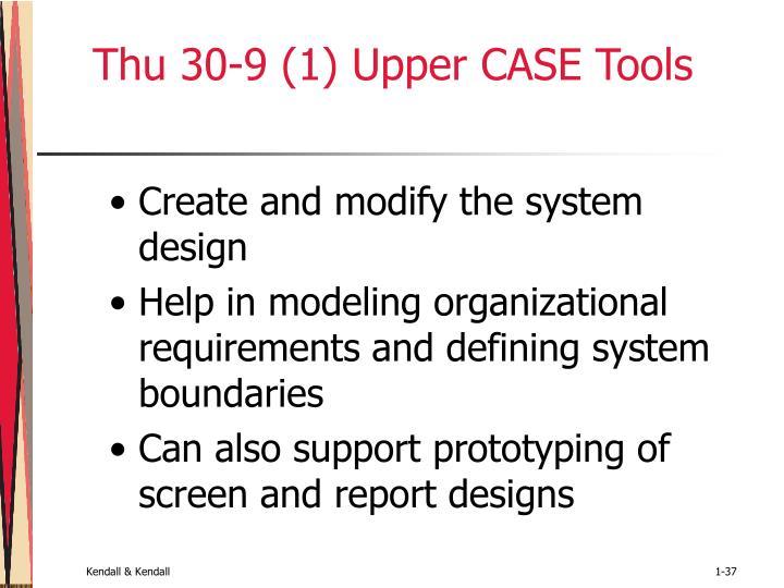 Thu 30-9 (1) Upper CASE Tools