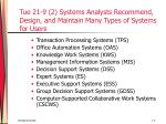 tue 21 9 2 systems analysts recommend design and maintain many types of systems for users