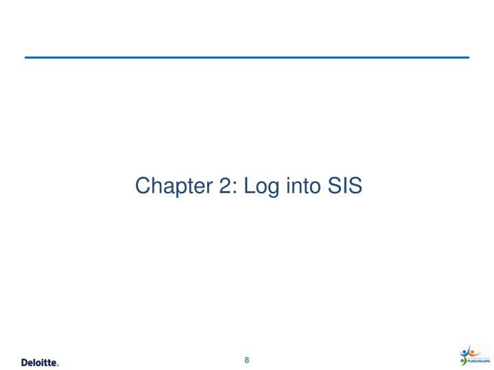 Chapter 2: Log into SIS