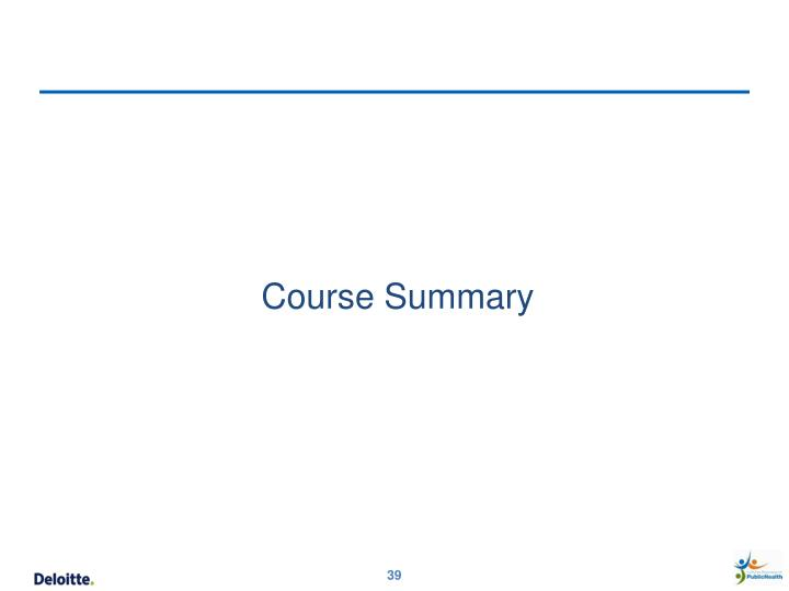 Course Summary