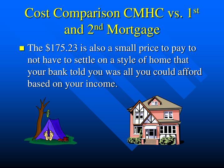 Cost Comparison CMHC vs. 1