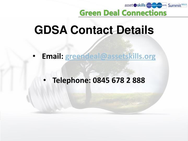 GDSA Contact Details