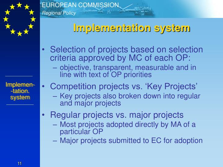 Implementation system
