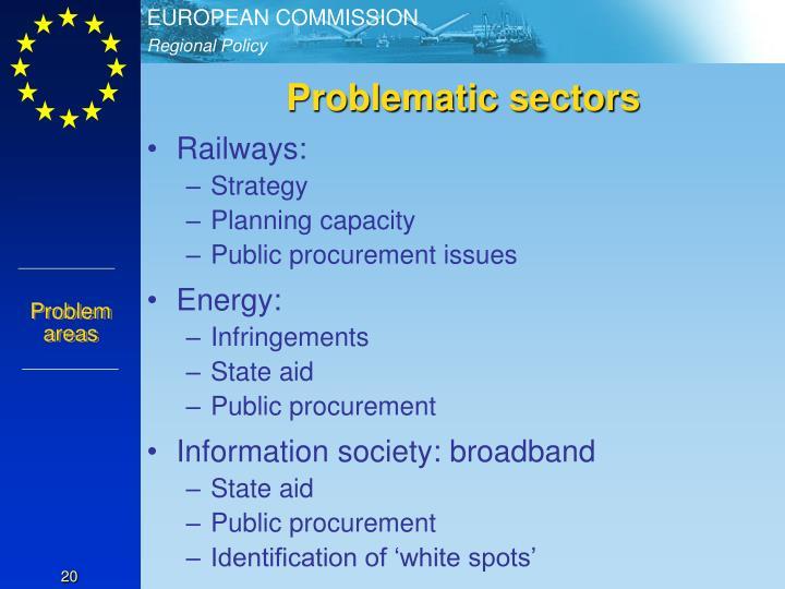 Problematic sectors