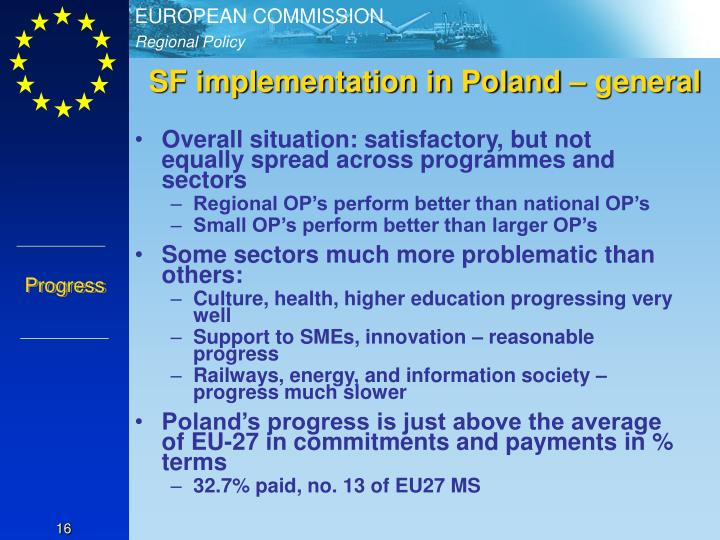 SF implementation in Poland – general
