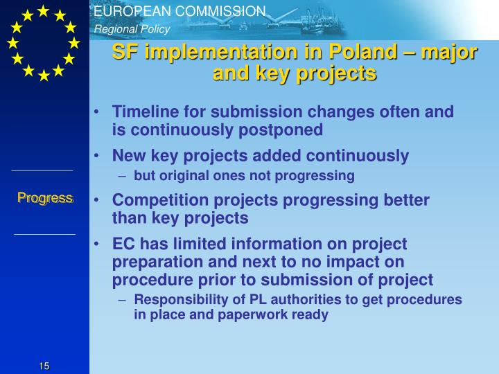 SF implementation in Poland – major and key projects