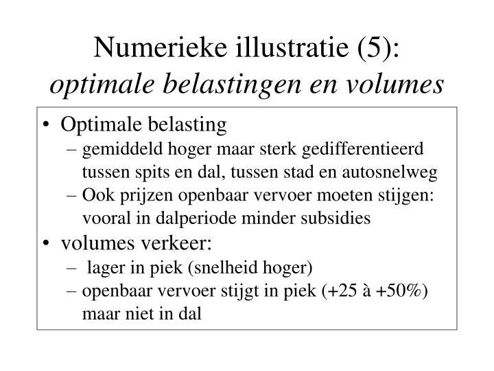 Numerieke illustratie (5):