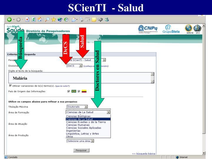 SCienTI  - Salud
