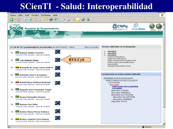 SCienTI  - Salud: Interoperabilidad