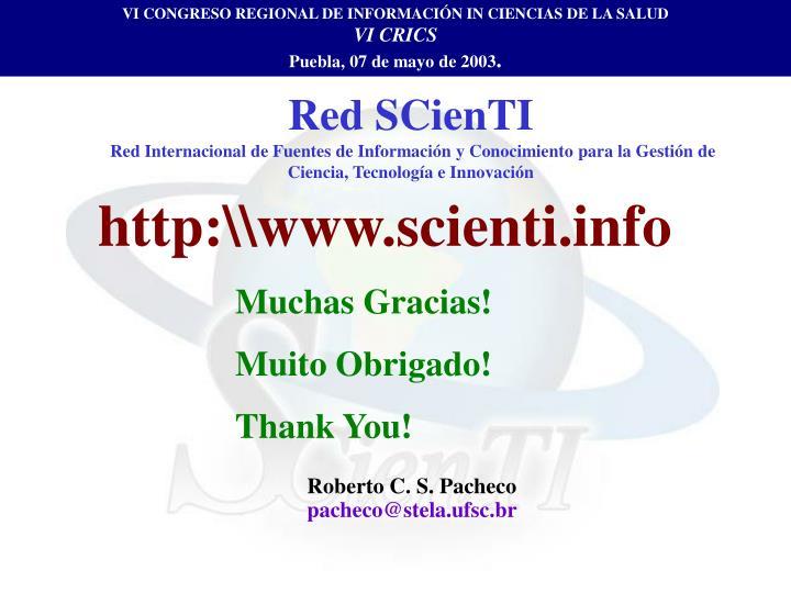 VI CONGRESO REGIONAL DE INFORMACIÓN IN CIENCIAS DE LA SALUD