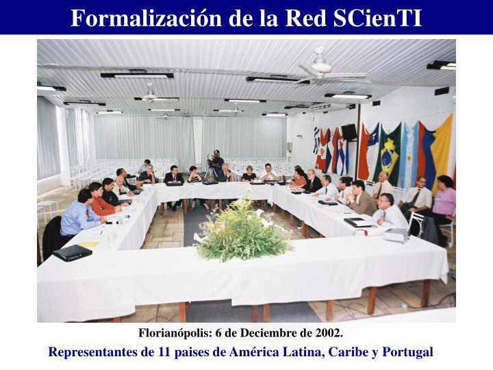 Formalización de la Red SCienTI