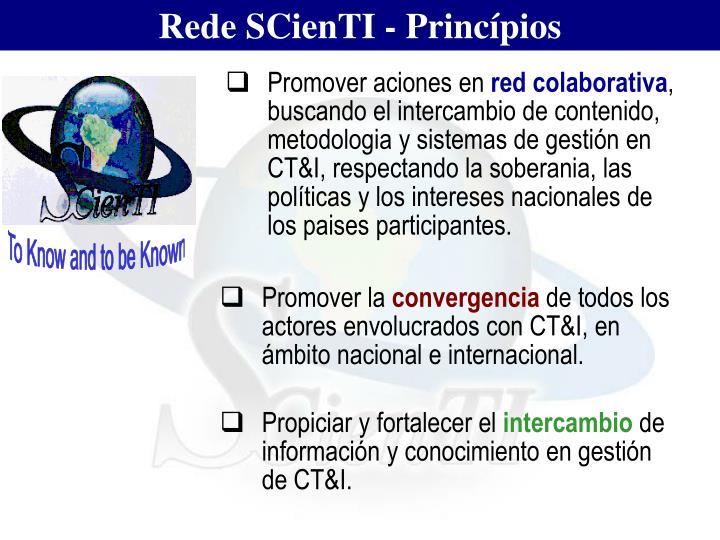 Rede SCienTI - Princípios