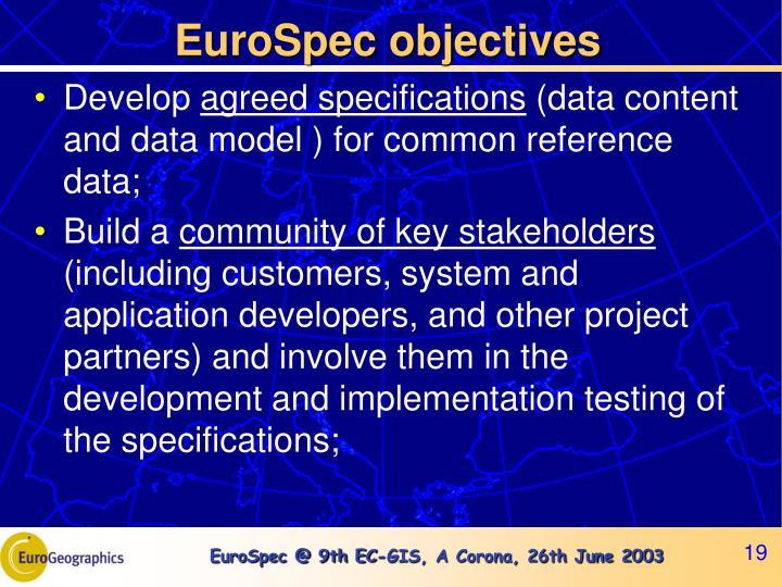 EuroSpec objectives