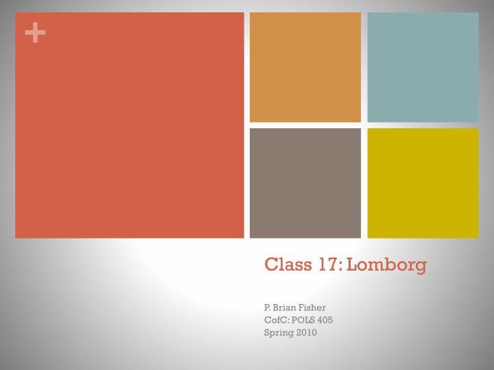 Class 17: