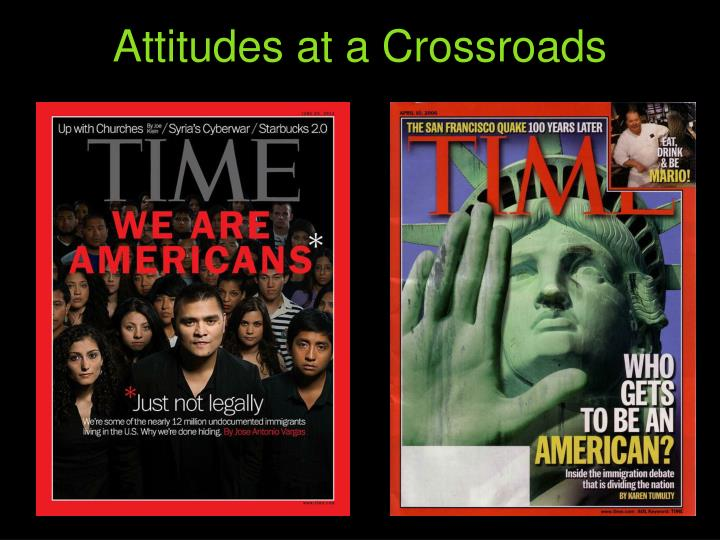 Attitudes at a Crossroads