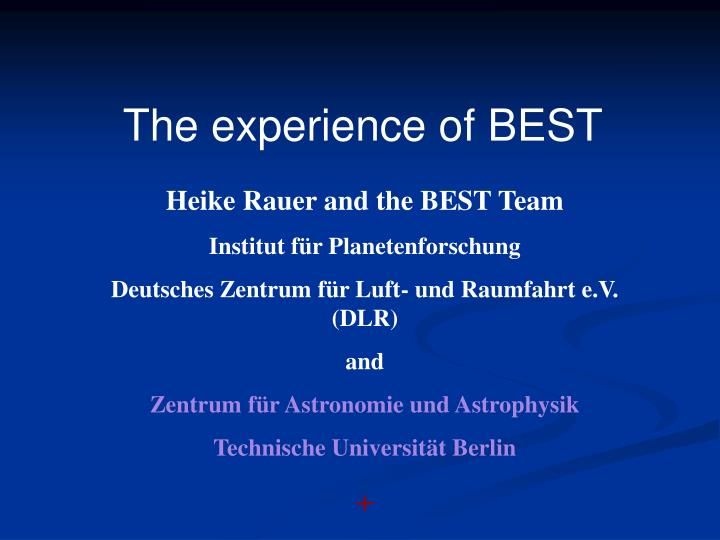 The experience of BEST